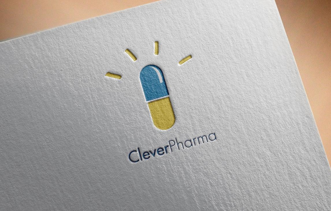 Clever Pharma logo letterpress